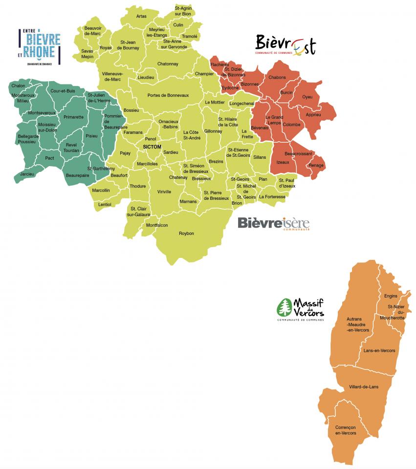 Carte Territoire et compétences